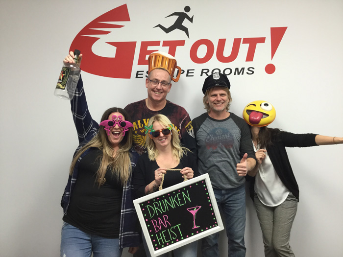 Drunken Bar Heist Featured Photo from GET OUT! Escape Rooms